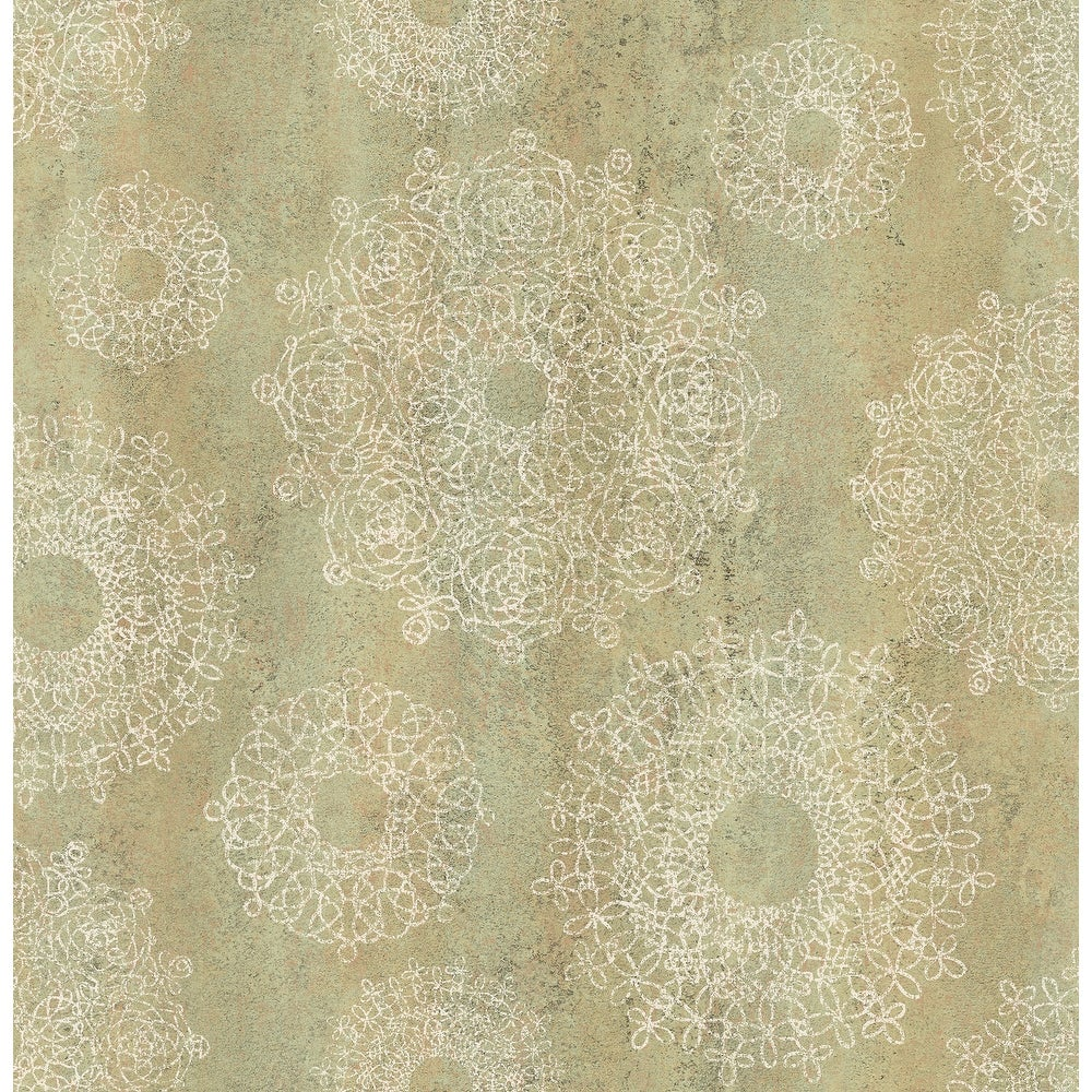Brewster  2734-003635   Essentials 56-3/8 Square Foot - Davao - Unpasted Paper Wallpaper - Light Brown (Light Brown)