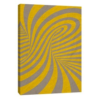 """PTM Images 9-109005  PTM Canvas Collection 10"""" x 8"""" - """"Yellow Swirls A"""" Giclee Abstract Art Print on Canvas"""