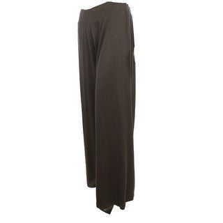 Sutton Studio Women's Wide Leg Knit Pant Brown