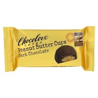 Chocolove Xoxox  1.2 oz Peanut Butter Dark Chocolate Cup - Case of 12