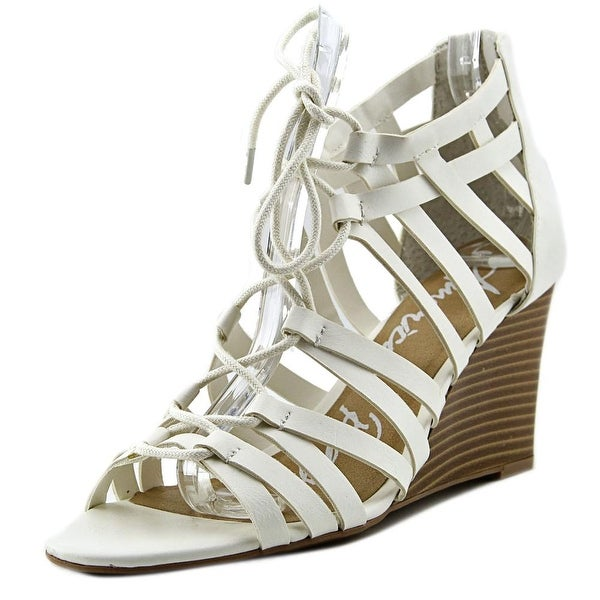 American Rag Kyle Women Open Toe Synthetic White Wedge Sandal