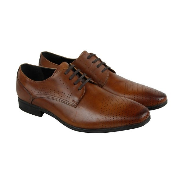 Kenneth Cole Reaction Minute To Spare Mens Brown Casual Dress Oxfords Shoes