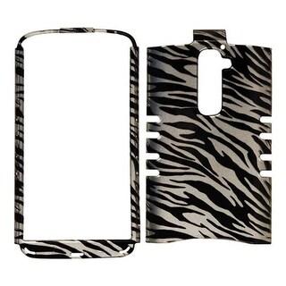 Unlimited Cellular Rocker Snap-On Case for LG G2 (Trans. Zebra Print)