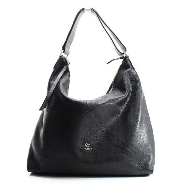 Radley London New Black Oxleas Leather Zip Top Hobo Shoulder Bag Purse