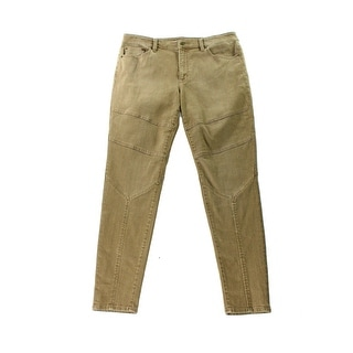 Lauren Ralph Lauren NEW Brown Womens Size 12 Stretch Skinny Moto Jeans