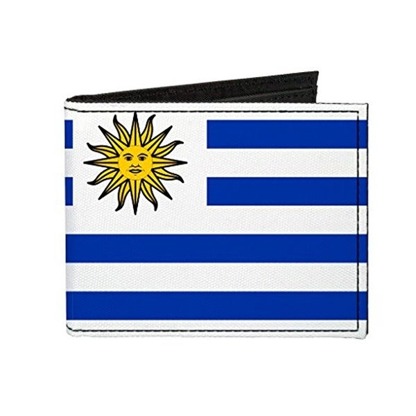 Buckle-Down Canvas Bi-fold Wallet - Uruguay Flag Accessory
