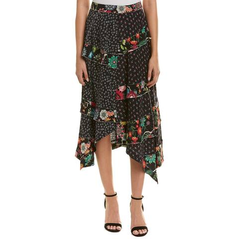 Nicole Miller Artelier Silk Maxi Skirt