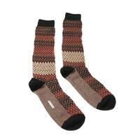Missoni GM00CMU5683 0002 Tan/Red Calf Length Socks