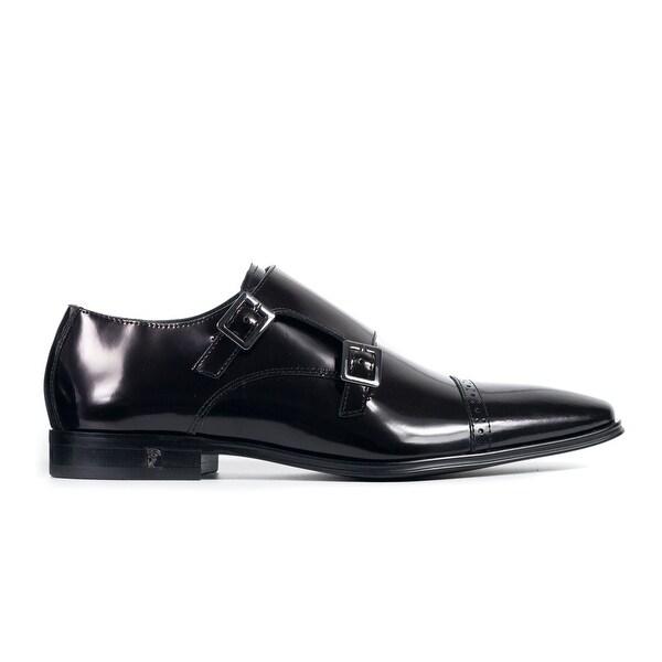 a17cfdb3dea8 Shop Versace Collection Mens Black Spazzolato Leather Monkstrap ...