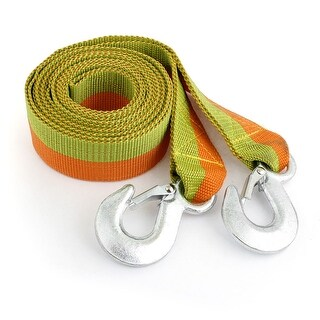 Unique Bargains 3 Ton 4 Meters Long Car Truck Breakdown Recovery Tow Strap Red Green