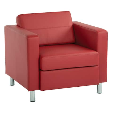 Pacific Arm Accent Chair with Chrome Legs
