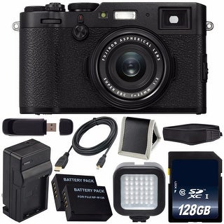 Fujifilm X100F Digital Camera (Black) International Model 16534651 + NPW-126 Replacement Lithium Ion Battery Bundle