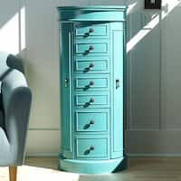 Hives & Honey 6006-587 Bailey Standing Jewelry Armoire - Turquoise