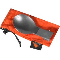 TOAKS Folding Titanium Camping Spoon with Lockable Handle