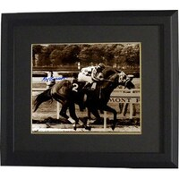 Shop Secretariat signed 1973 Belmont Stakes Sepia 8x10 Photo