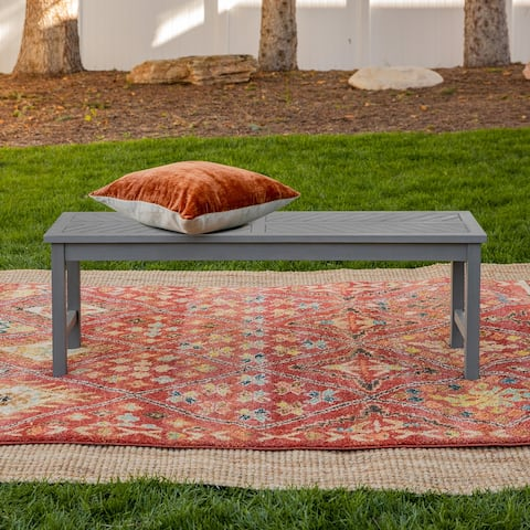 Elephant Point Chevron Patioi Bench by Havenside Home