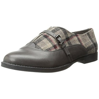 Bella Vita Womens Reese Leather Flannel Oxfords