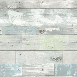 Brewster Beachwood Peel and Stick Wallpaper Beachwood Wall Pops Wallpaper - N/A