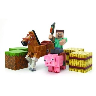 Minecraft Overworld Saddle Pack Figure Set