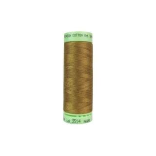 9240 3514 Mettler Silk Fin Cotton 60 219yd Bronze Brown