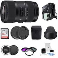 Sigma 18-35mm F1.8 Art DC HSM Lens for CANON DSLR Cameras Bundle
