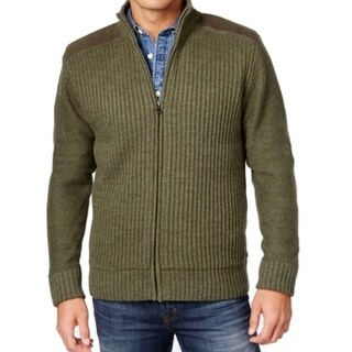 Weatherproof NEW Green Mens Size Small S Full Zip Ribbed Sweater