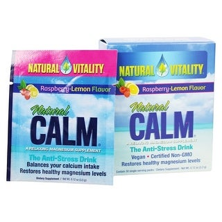 Natural Vitality Natural Calm Magnesium Supplement Raspberry/Lemon 30-packets