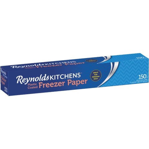 "Reynolds Kitchens 392 Plastic Coated Freezer Paper, 18"" x 33.5 Yd, 150 Sq.ft."
