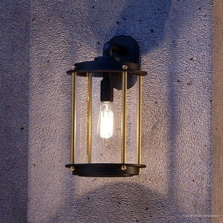 """Luxury Vintage Outdoor Wall Light, 15""""H x 8""""W, with Industrial Chic Style, Architectural Bronze Finish by Urban Ambiance"""