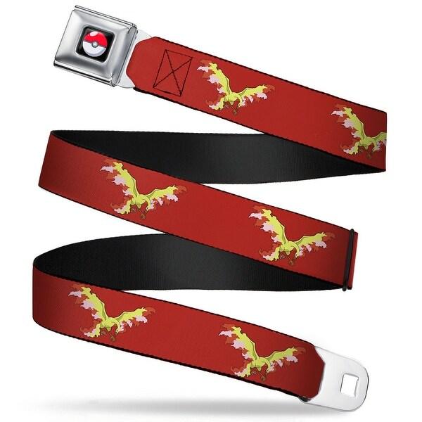 Pok Ball Full Color Black Moltres Fire Flying Pose1 Red Webbing Seatbelt Seatbelt Belt