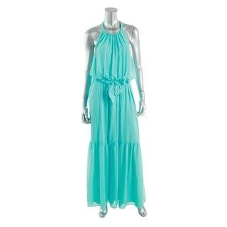 Jessica Simpson Womens Chiffon Ruched Maxi Dress - S
