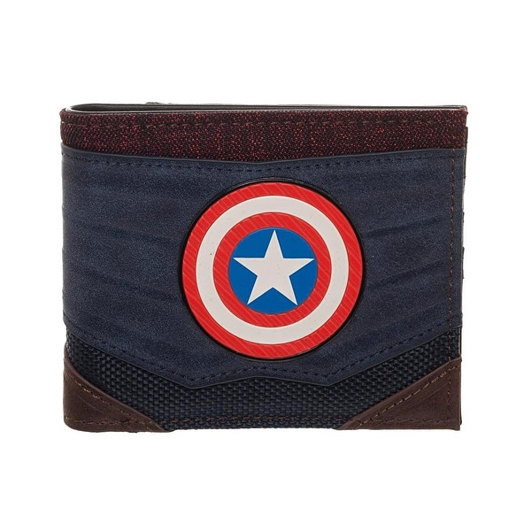 Captain America Chrome Weld Patch Bi-fold Wallet - One Size Fits most