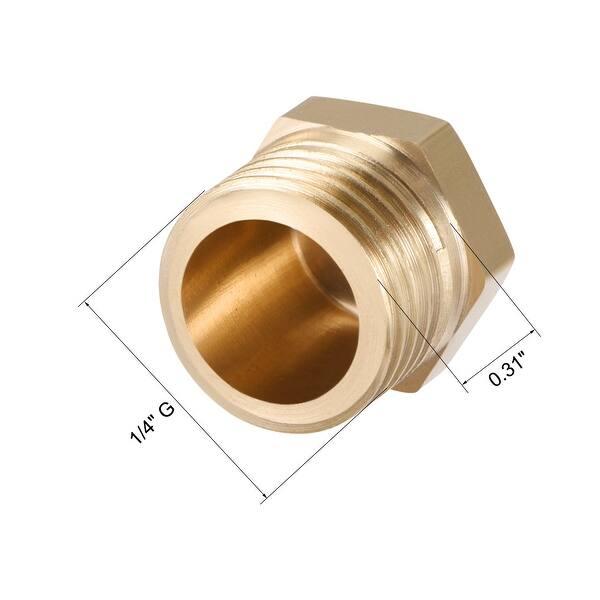 Pack of 2 Internal Hex Thread Socket Plug Quickun 1//2 npt Hex Plug Brass Pipe Fitting