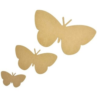 "12""X6.5""; 7.5""X4""; 4.5""X2.5"" 3/Pkg - Beyond The Page Mdf Butterfly Wall Art"