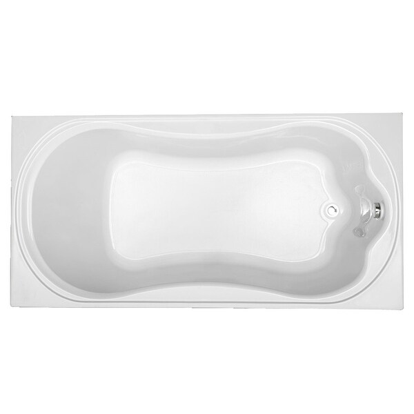 """Mirabelle MIRKWA7236 Key West 72"""" X 36"""" Drop-In Air Bath Tub with Reversible Drain - White"""