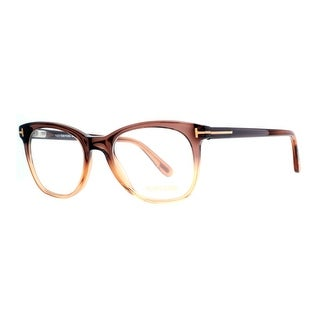 Tom Ford TF 5310 050 50mm Clear Brown Beige Square Eyeglasses - clear brown beige - 50mm-19mm-145mm
