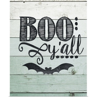 """""""Boo Y'all"""" Poster Print"""