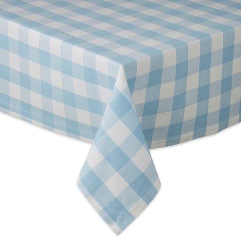 "DII Easter Egg Checks Tablecloth - 60 X 84"""