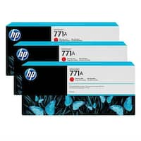 HP 771A 3-Cartridges 775-ml Chromatic Red DesignJet Ink Cartridges (B6Y40A) (Single Pack)