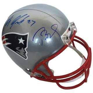 Tom Brady Rob Gronkowski Signed Patriots Full Size Replica Helmet PSA TriStar