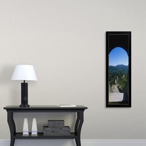 """High angle view of the Great Wall of China, Beijing, China"" Black Framed Print"