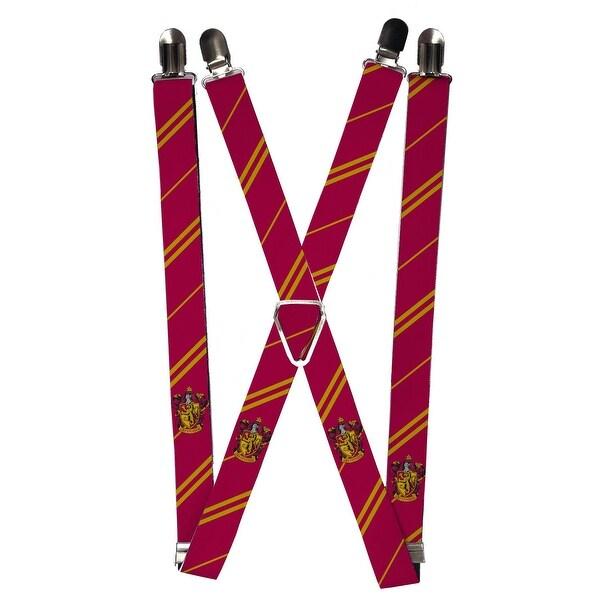 Buckle Down Elastic Harry Potter Hogwarts House Emblem Clip End Suspenders