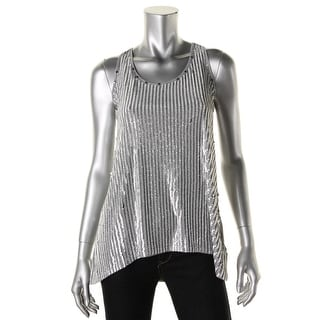 MICHAEL Michael Kors Womens Modal Sequined Casual Top - XL