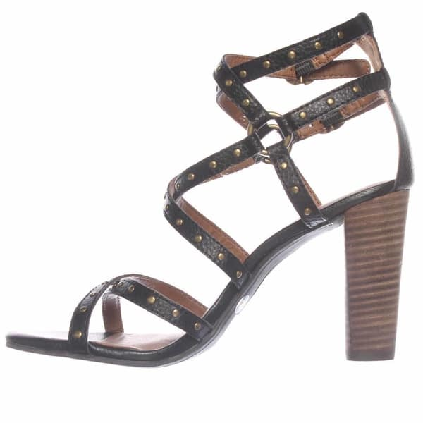 quite nice shop best sellers how to buy Shop Lucky Brand Orandi Strappy Stacked Heel Sandals - Black ...