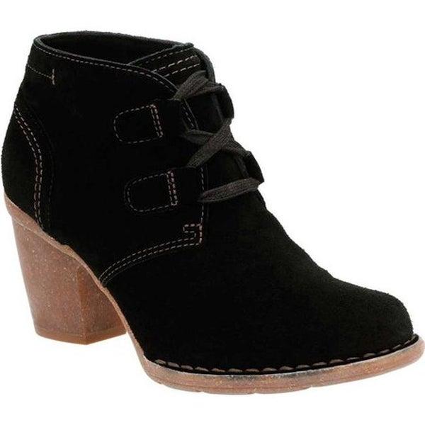 5044ce453d0e Shop Clarks Women s Carleta Lyon Ankle Bootie Black Cow Suede - Free ...