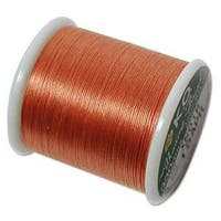Japanese Nylon Beading K.O. Thread for Delica Beads - Apricot 50 Meters