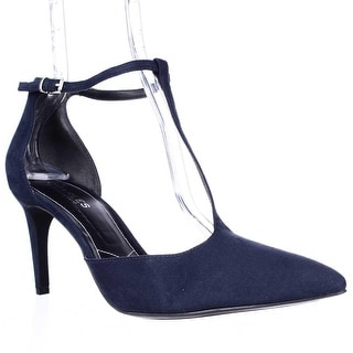 Charles by Charles David Lodge T-Strap Pointed Toe Dress Pumps - Night