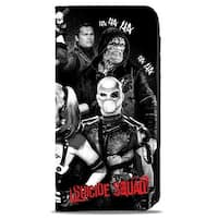 Suicide Squad 8 Character Group Pose Hahaha Black Grays Red White Canvas Canvas Snap Wallet - One Size Fits most