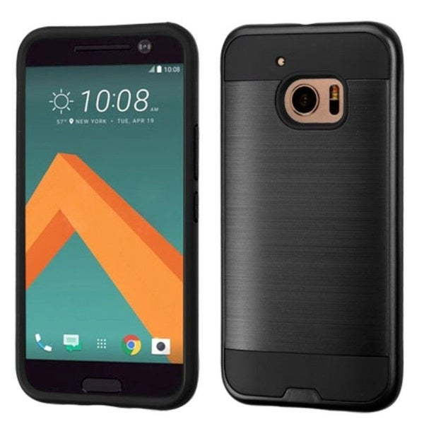 Insten Dual Layer Hybrid Rubberized Hard PC/ Silicone Case Cover For HTC One M10