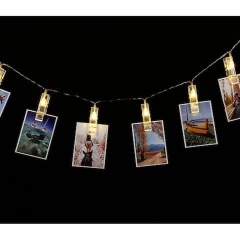 20 LEDs Card Photo Clip String Lights, 2700K - 1 Pack